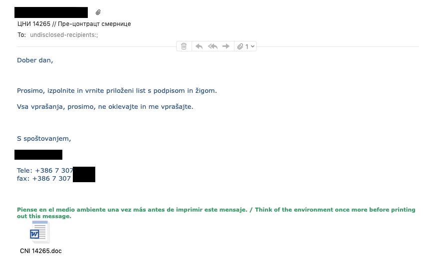 Pojavljajo se nova sumljiva email sporočila