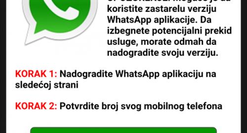 whatsapp prevara v Sloveniji